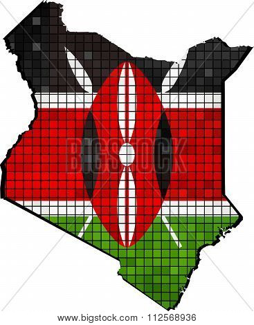 Kenya Map With Flag Inside.eps