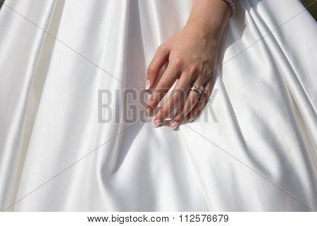 Wedding Band On Lady