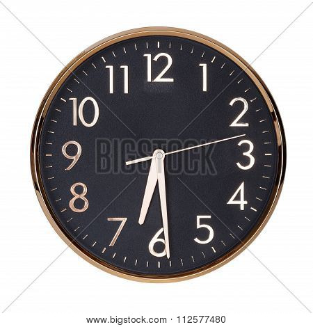 Half Past Six On A Clock Face