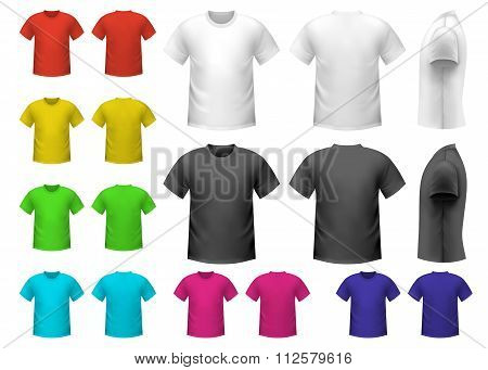 Colorful male t-shirts set. Male t-shirts icons. Male t-shirts signs. Male t-shirts set art. Male t-shirts set web. Male t-shirts set new. Male t-shirts set best. Male t-shirts set shape