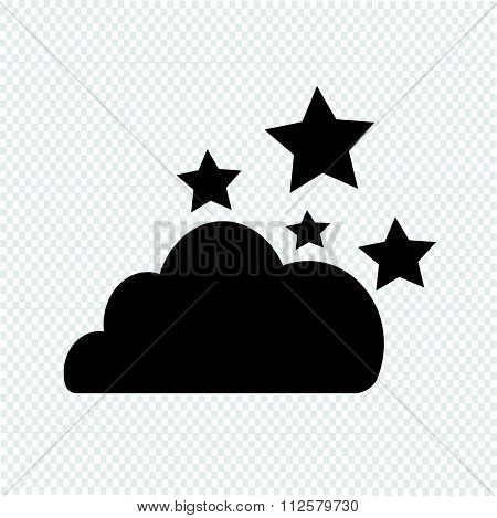 Cloud Stars Icon