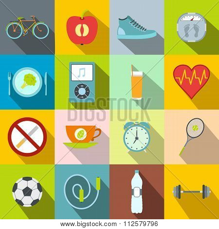 Healthy style life icons. Healthy style life icons set. Healthy style life icons collection. Healthy style life icons flat. Healthy style life icons vector. Healthy style life icons art