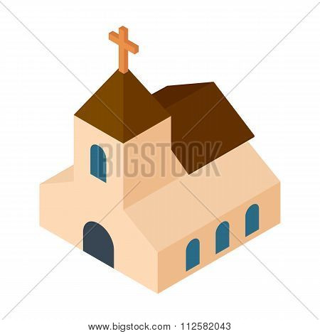 Wedding chapel isometric 3d icon