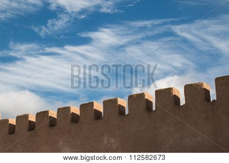 City Fortification Detail In Essaouira, Morocco