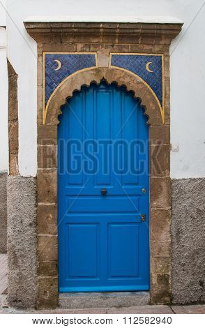 Blue Gate With Moons, Morocco