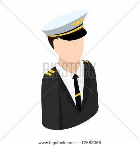 Pilot isometric 3d icon