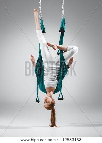 Antigravity Yoga - Stock Image