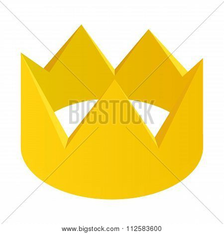 Gold crown isometric 3d icon