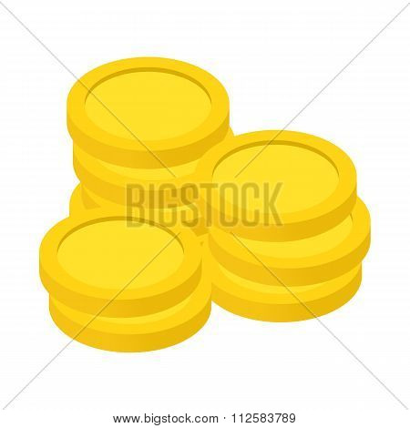 Gold coins isometric 3d icon