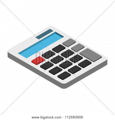 Calculator isometric 3d icon