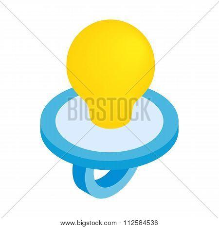 Baby nipple isometric 3d icon