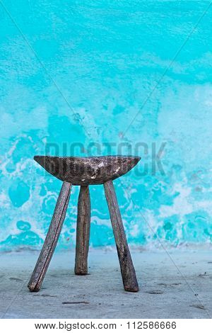 Old wooden little chair