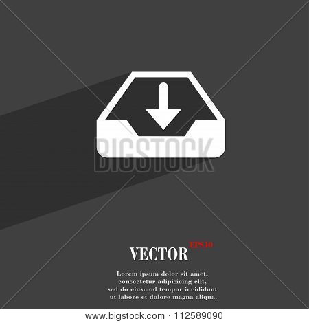 Restore Symbol Flat Modern Web Design With Long Shadow And Space For Your Text.