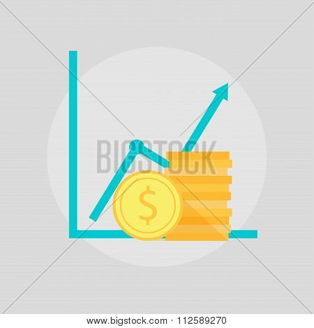 Financial growth illustration