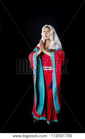 Praying Medieval Girl
