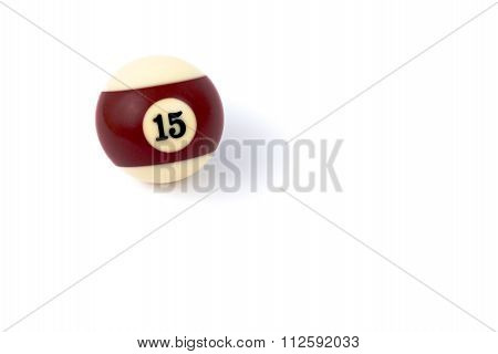 Billiard Ball Fifteen Isolated On A White Background