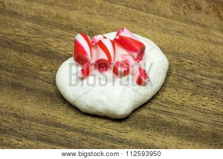 Christmas Decorated Meringue Dessert