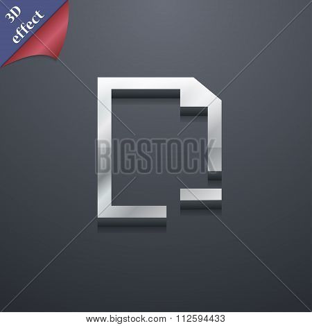 Remove Folder Icon Symbol. 3D Style. Trendy, Modern Design With Space For Your Text
