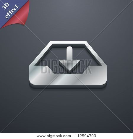 Restore Icon Symbol. 3D Style. Trendy, Modern Design With Space For Your Text