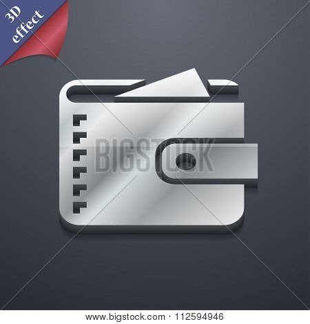 Purse  Icon Symbol. 3D Style. Trendy, Modern Design With Space For Your Text