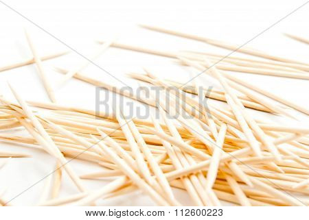 Many Toothpicks On White