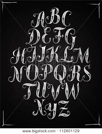 Calligraphy Ornamental Vector Font