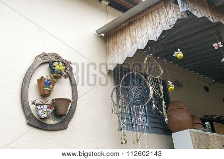 Amulets In Facade Of House