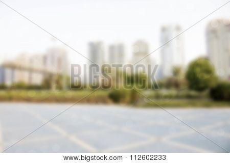 Blurred City Textured Background