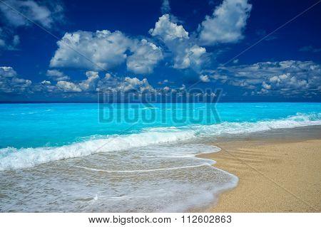 Blue water of Egremni Beach