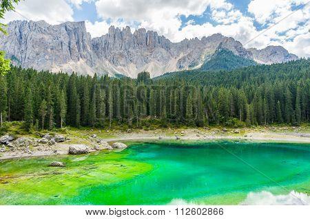 Lago di Carezza in the Dolomites