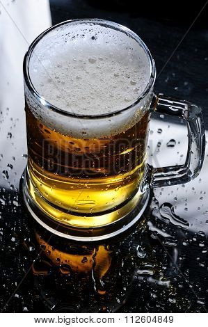 Beer On Mirrow Table