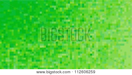 Square green pixel mosaic
