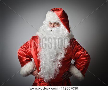 Santa Claus Is Standing