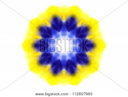 Bright Abstract Watercolor Shape