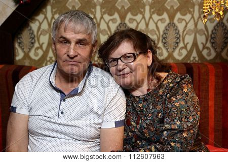 Senior Couple On The Sofa