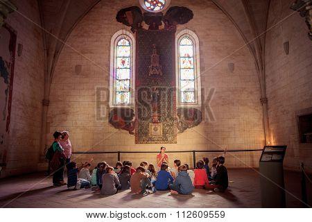 Monastery Of Pedralbes In Barcelona, Spain
