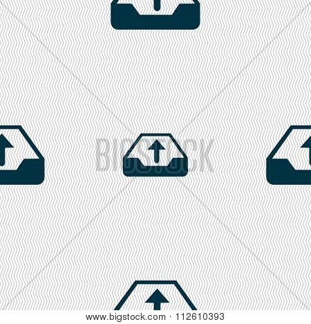 Backup Icon Sign. Seamless Pattern With Geometric Texture.