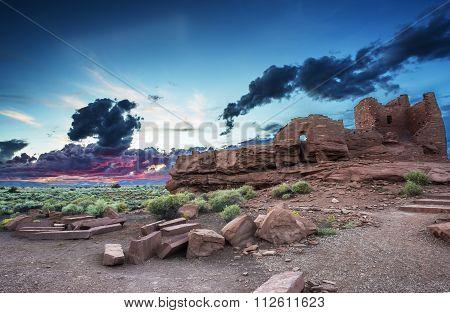 Sunset At Wukoki Ruin