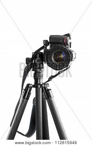 Dslr Camera On A Tripod