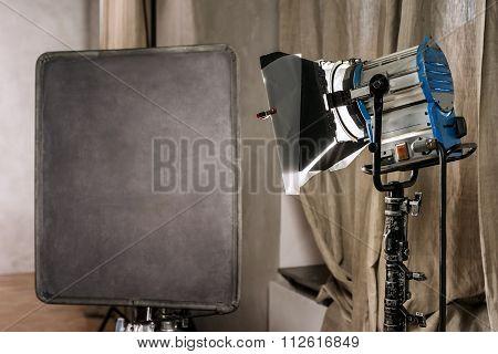 Large Photo Studio With Old Lighting Equipmen