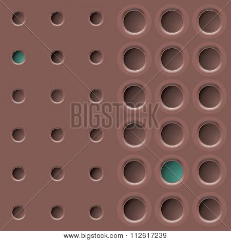 texture background with eyelets