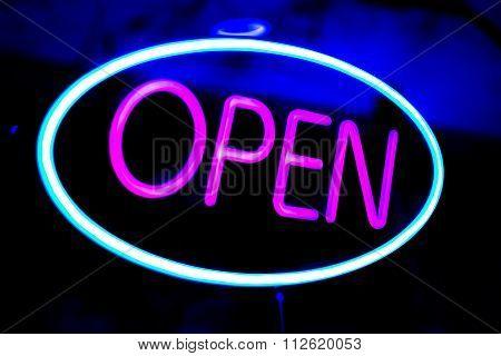Neon Shop Open Store Sign