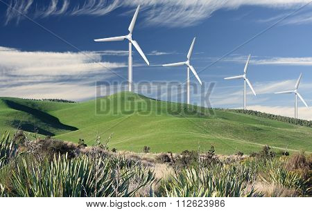 Rolling Hills And Wind Generator