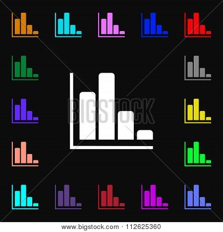 Infographic Icon Sign. Lots Of Colorful Symbols For Your Design.