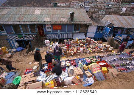 Market Namche Bazaar, Nepal