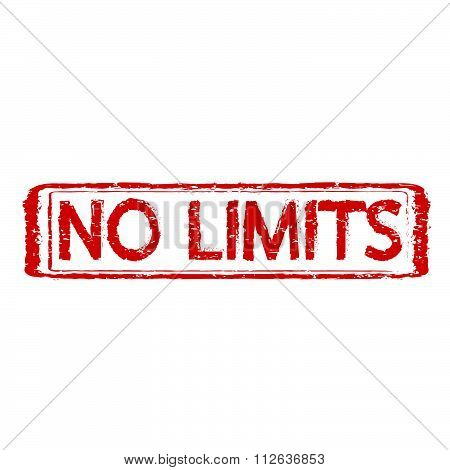 No Limits Grunge Rubber Stamp,illustration