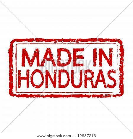 Made In Honduras Stamp Text Illustration