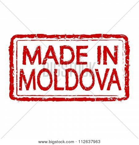 Made In Moldova Stamp Text Illustration