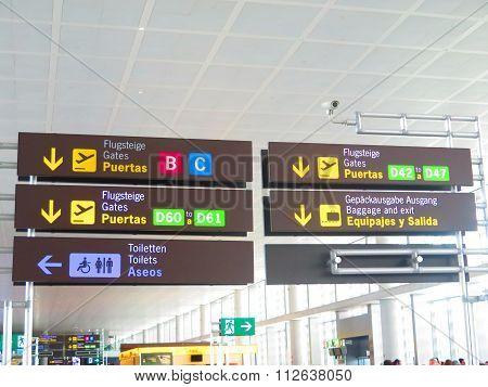 Malaga Airport Display