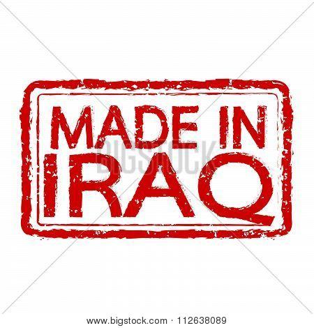 Made In Iraq Stamp Text Illustration